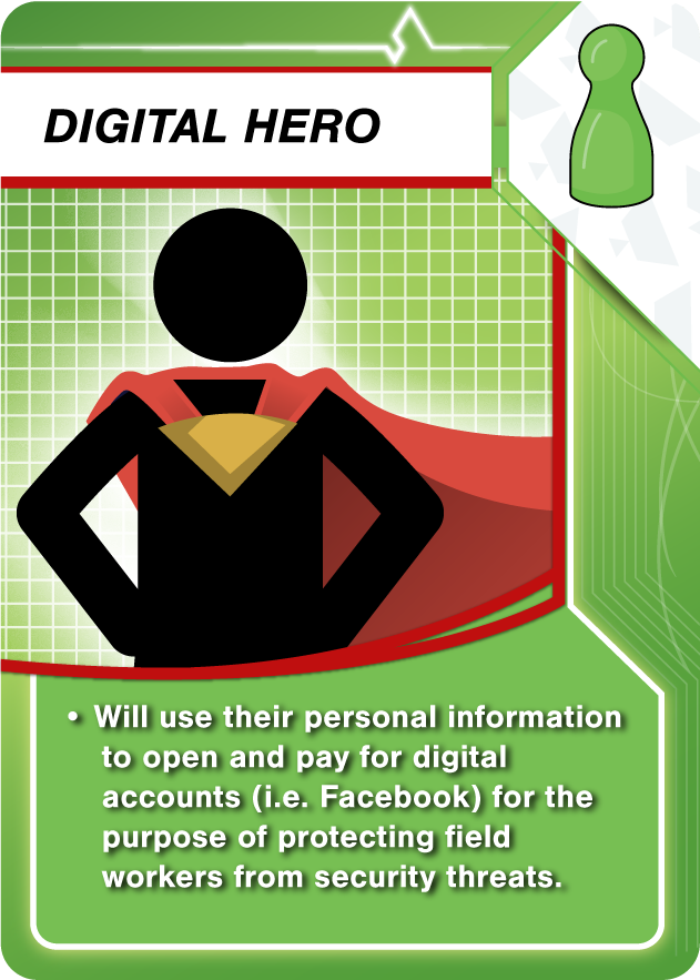 Risk Management: A card explaining the Digital Hero role