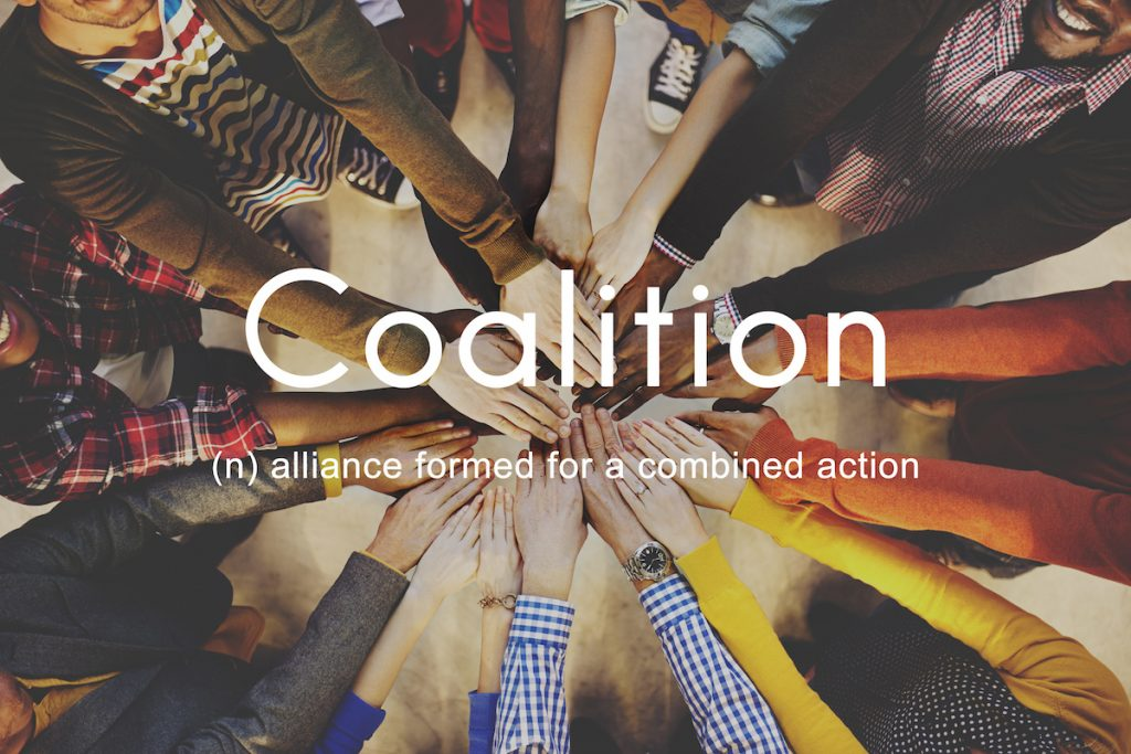 Coalition (n) alliance formed for a combined action